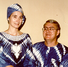 Picture of Ron and Sandra Webster during Nigerian visit in 1989-90